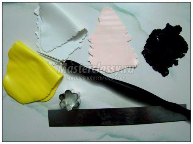 серьги M&M's из запекаемой полимерной глины