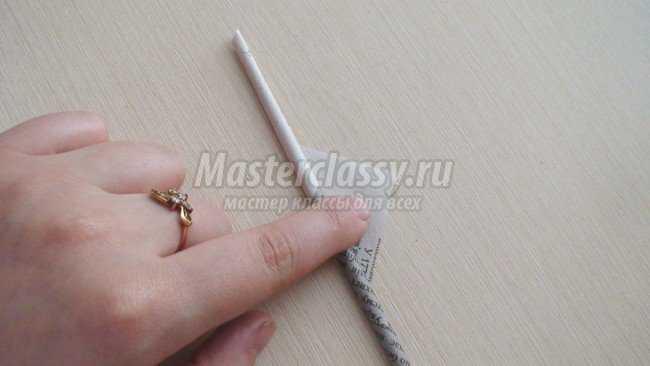 Изготовление трубочек для плетения