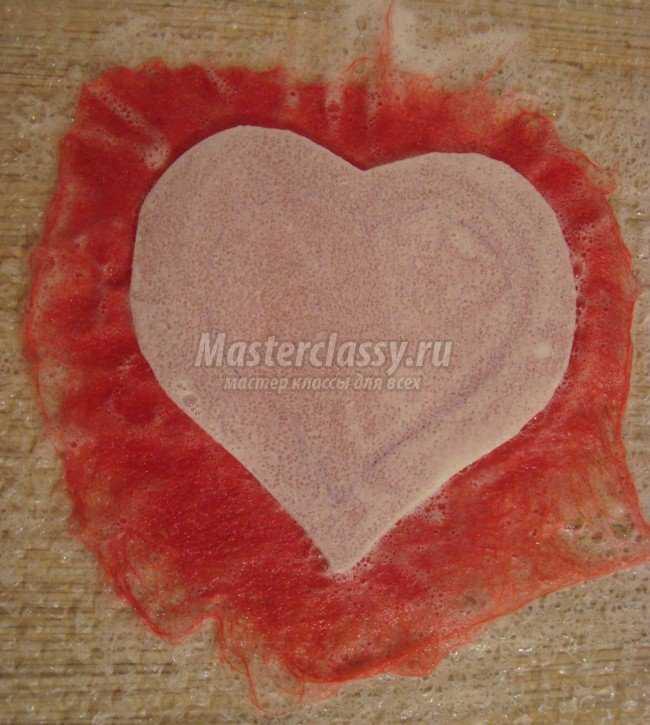 Валяние валентинки из шерсти. Мастер класс с пошаговыми фото