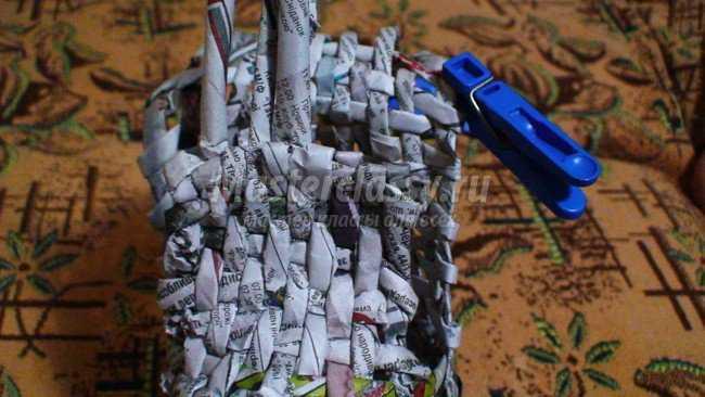 Плетение. Башмачок из бумаги
