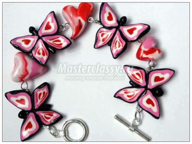 браслет с бабочками