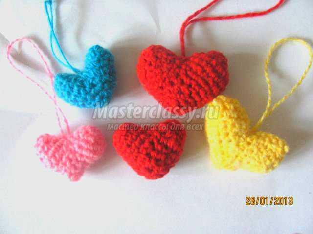 вязание крючком сердечки для любимых на день святого валентина