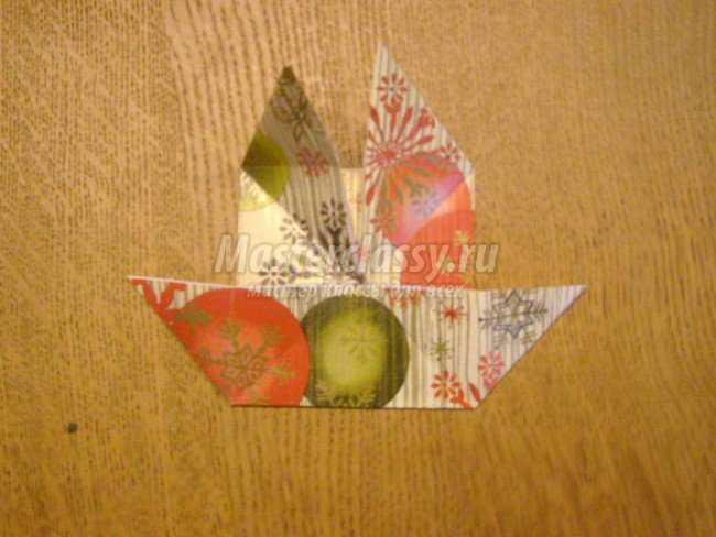 Новогодний шар из бумаги своими руками