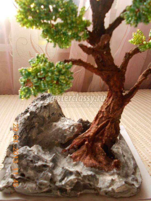 бисероплетение деревьев. Бонсай