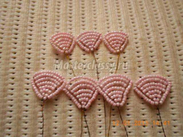 роза из бисера схема плетения с пошаговым фото