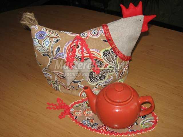 Грелка курочка на чайник своими руками