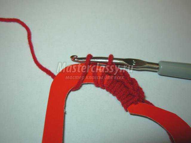 вязание крючком сердца