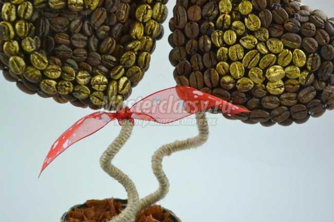 Кофейное дерево своими руками. 2 сердца