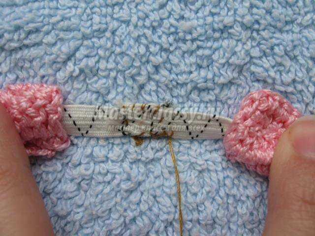 вязание крючком. Резинка для волос