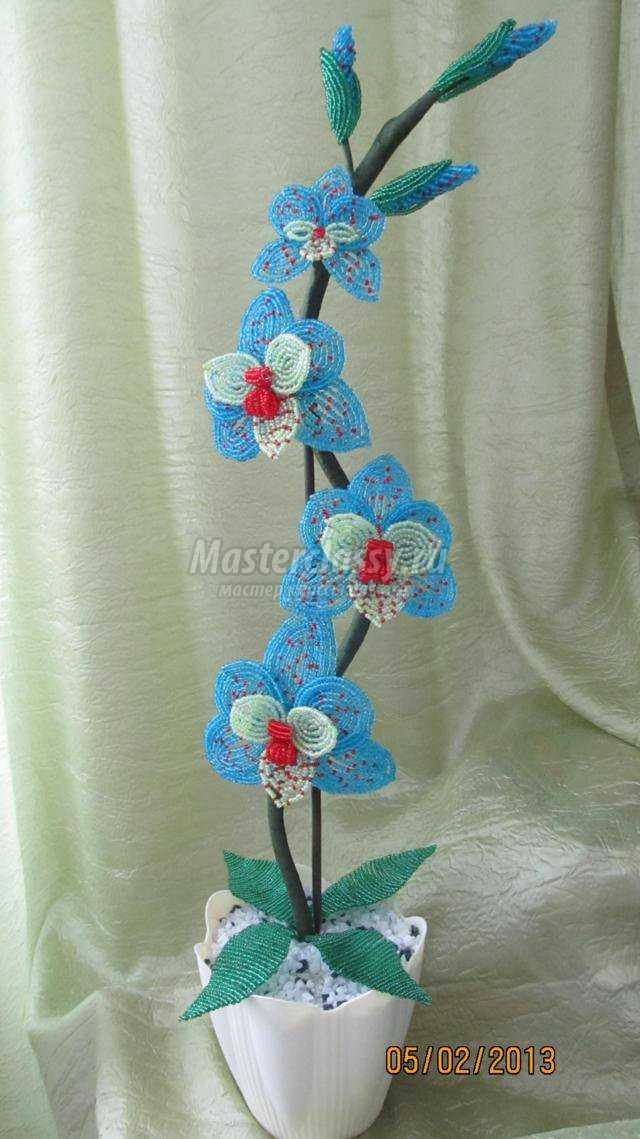 Бисероплетение цветка пошаговое фото