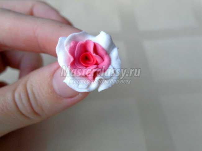 Браслет из роз из запекаемой полимерной глины