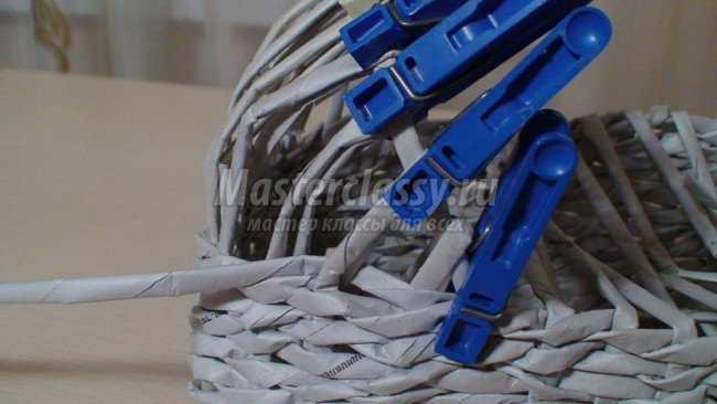 машина из трубочек плетение