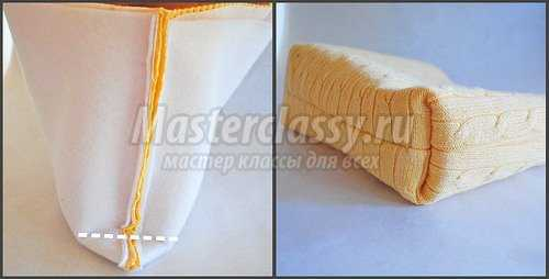 Стильная сумка из старого свитера