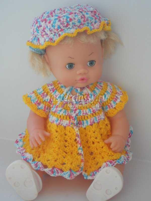 Мк вяжем платье для куклы крючком