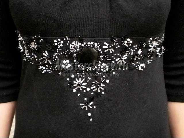 Украшение из бисера своими руками для платья