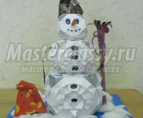 1362000344_anons Снеговик своими руками на Новый год из подручных материалов