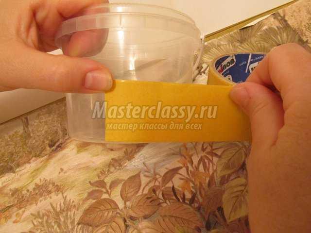 Шкатулка из пластикового ведерка