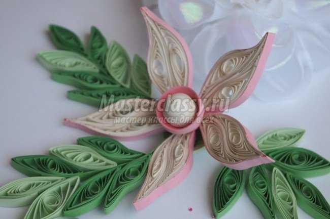 Объемный квиллинг цветок