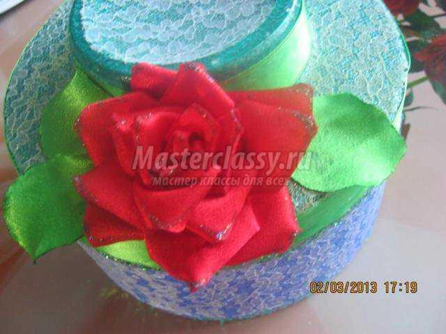 шкатулка. Одинокая роза