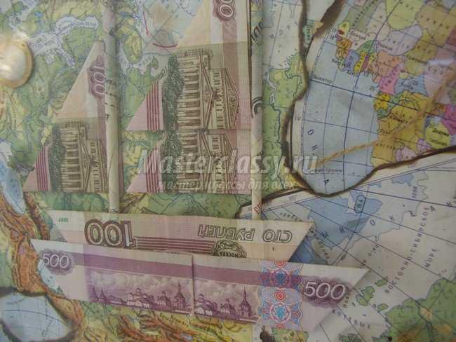 Подарок своими руками картина из денег