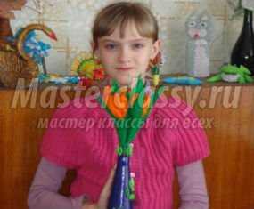 Поделки из бумаги. Цветы для мамы на 8 Марта. Мастер класс с пошаговыми фото