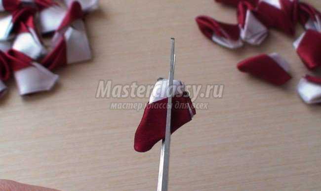 Ободок в технике канзаши