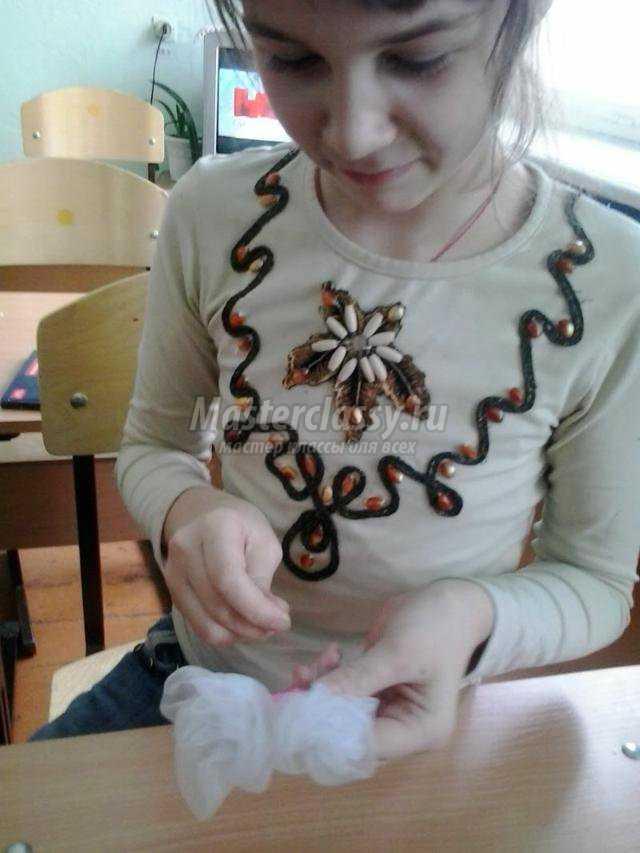 резинка для волос из органзы