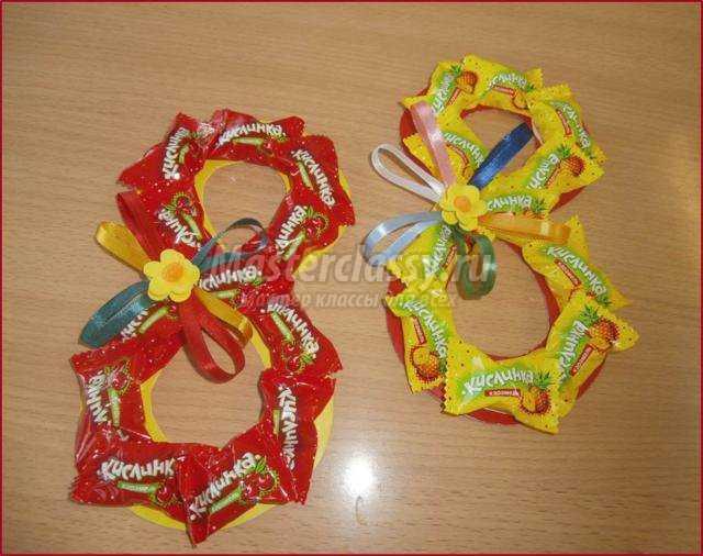 Как сделать открытку с конфетами своими руками