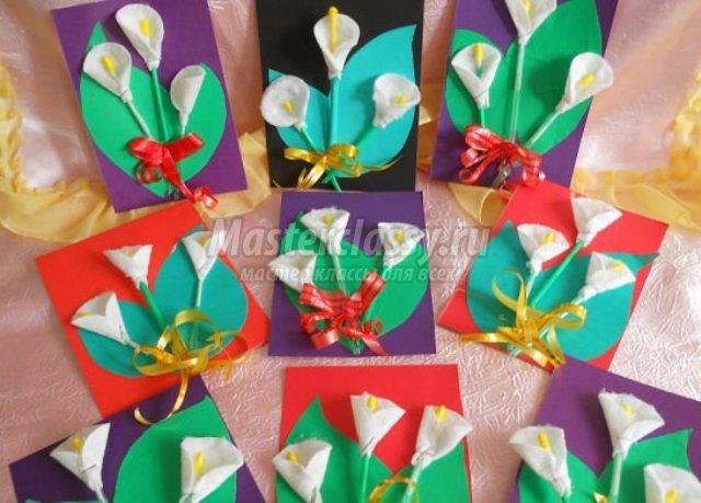 Объемные цветы своими руками видео фото 573