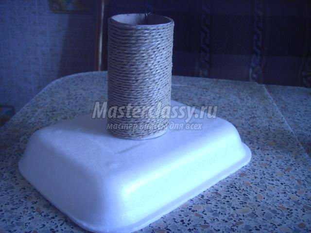 ваза из картонного рулончика