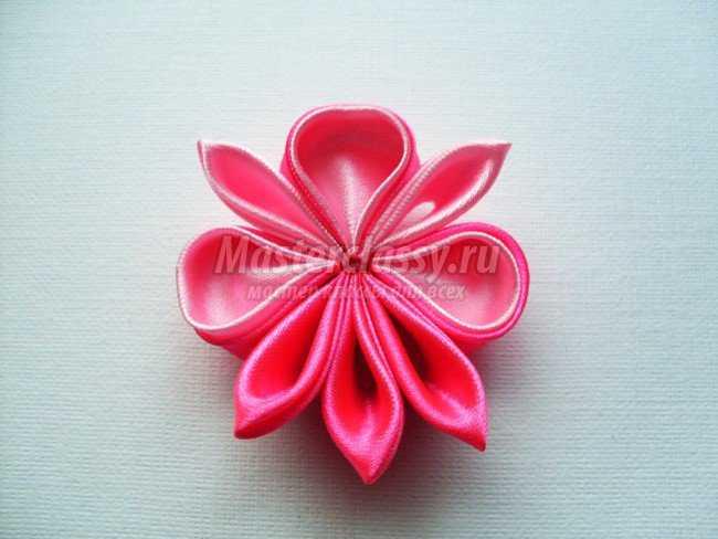 Канзаши. Розовые заколочки