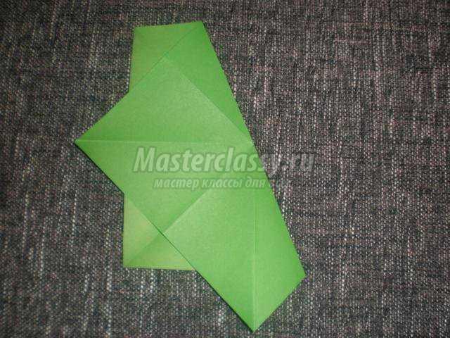 оригами. Подсвечник-цветок