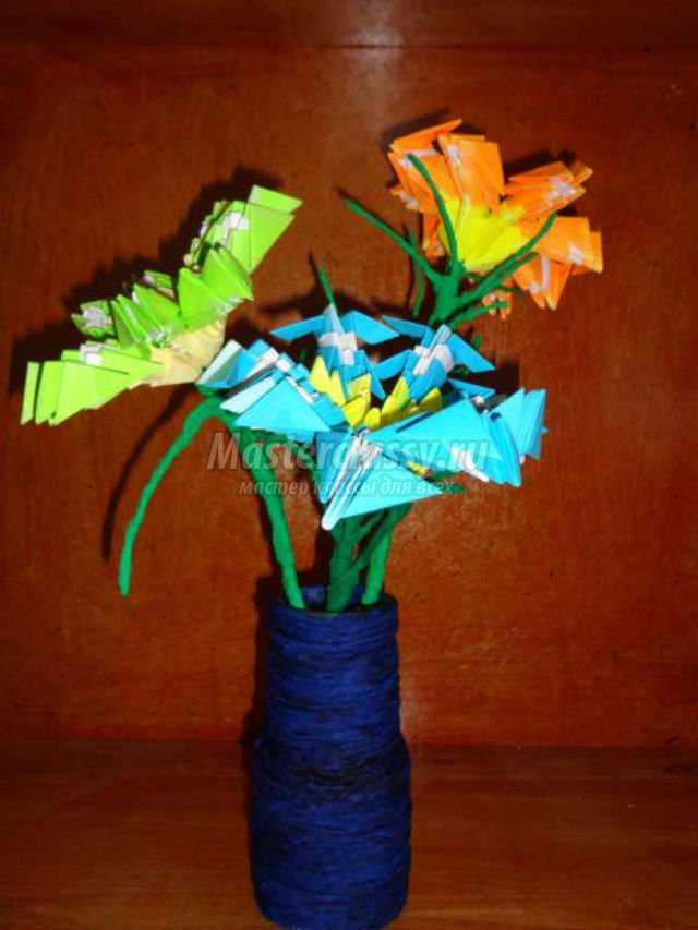 модульное оригами. Весенние цветы