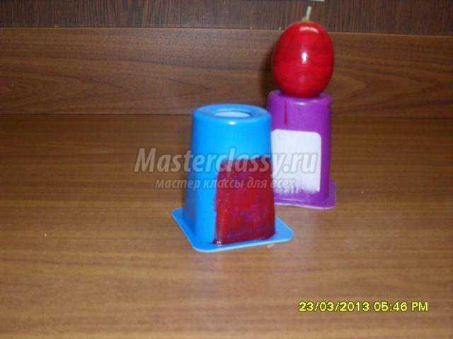 пасхальная свеча–яйцо