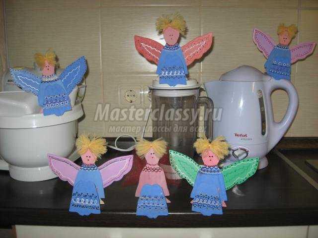 ангелочки из фанеры своими руками