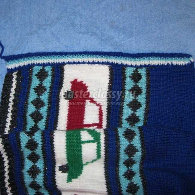 Вязание спицами. Кофточка для мальчика
