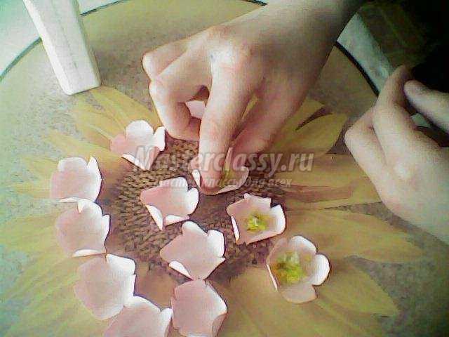 Поделка вишня своими руками