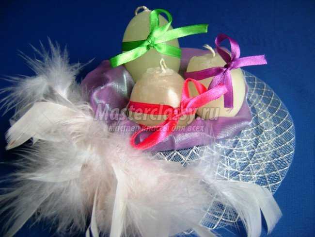 Свеча в форме яйца своими руками