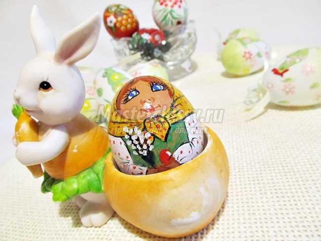 Роспись пасхального яйца. Матрешка