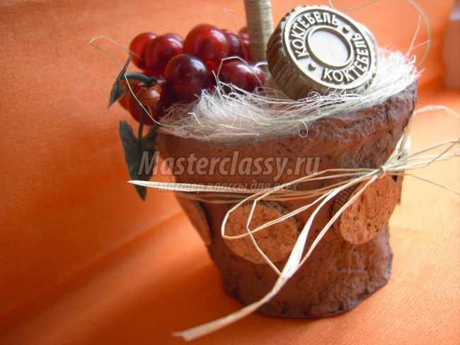 Топиарий в подарок Вино