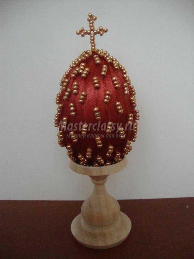 пасхальное яйцо с вышивкой бисером