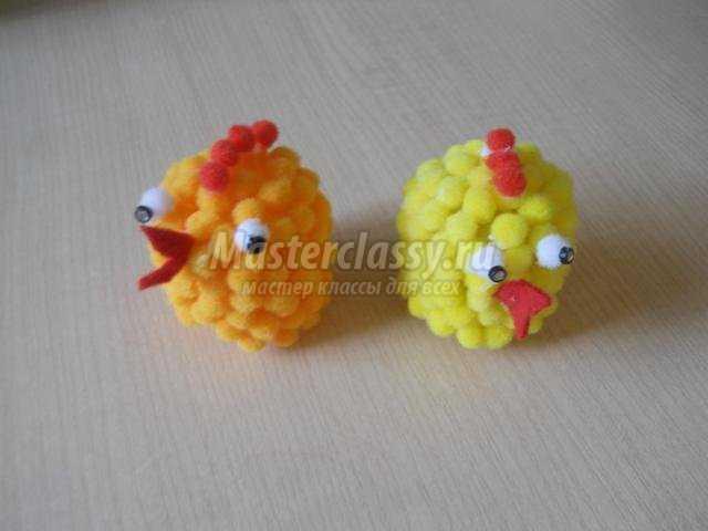 Поделки из киндер сюрпризов цыпленок