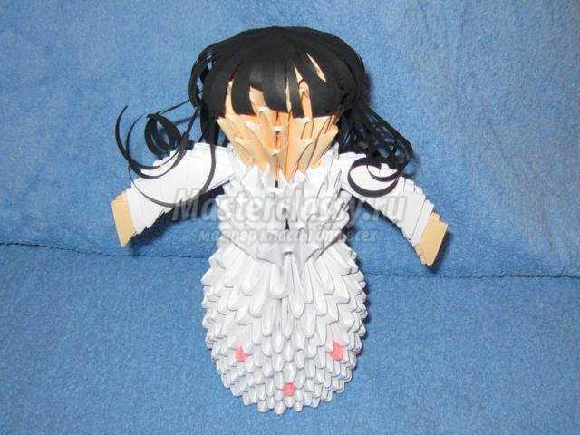 модульное оригами. Невеста