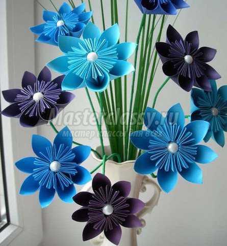 Мастер класс цветы из гофр.бумаги