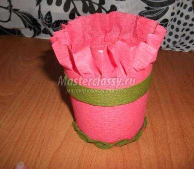 Сделать корзинку с цветами из бумаги