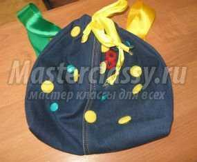 рюкзак из джинсы