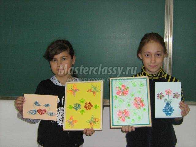детские картины в технике квиллинг