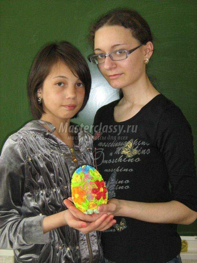 квиллинг. Пасхальное яйцо из воздушного шарика
