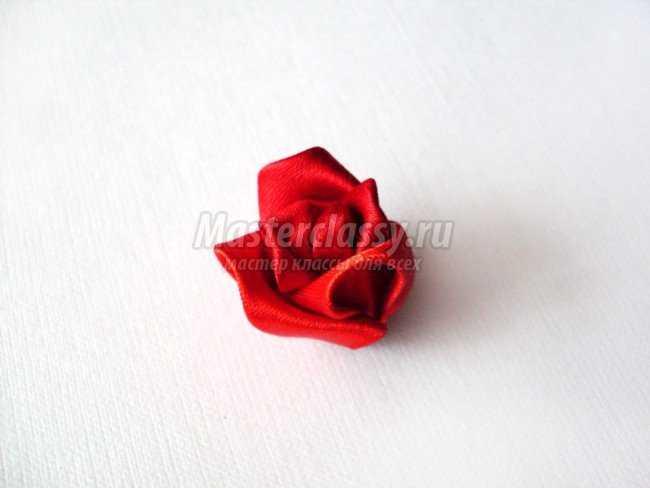 Канзаши роза. Мастер класс