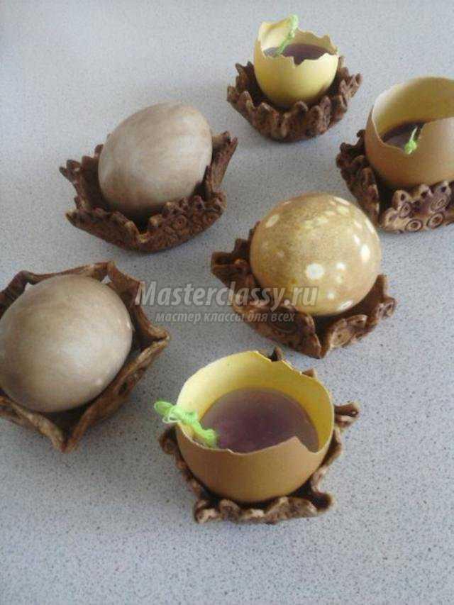 подставочки для пасхальных яиц. Соленое кружево